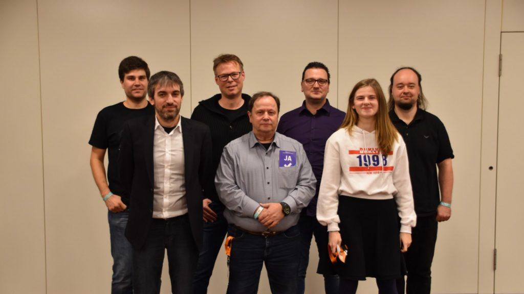 Gruppenbild des Bundesvorstandes der Piratenpartei 2020